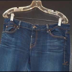 Navy blue skinny jeans USED